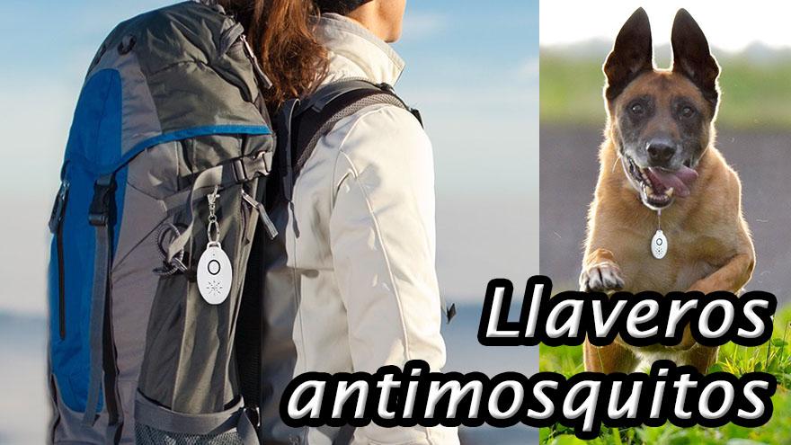 Llaveros antimosquitos portátiles de ultrasonidos o citronela
