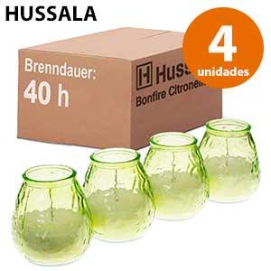 Velas antimosquitos para jardín x4 Hussala