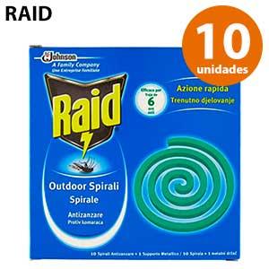 Espirales antimosquitos Raid pack 10