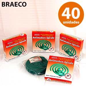 Espirales insecticidas Braeco 4x10