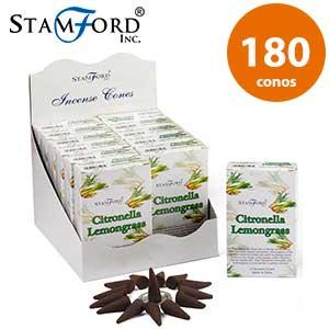Incienso de citronela en conos Stamford - 180 conos