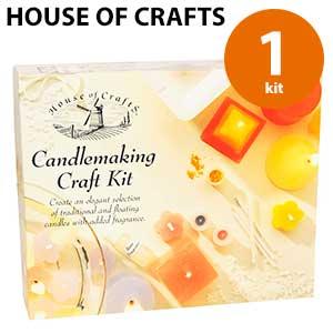 Juego de herramientas y materiales para hacer velas de citronela House of Crafts