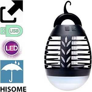 Lámpara para jardín y exterior antimosquitos usb Hisome