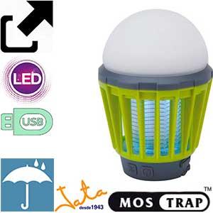 Mostrap MIB6 lámpara mosquitos jardín, exterior y camping con linterna
