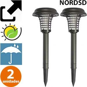 Lámpara mata mosquitos exterior carga solar Nordsd