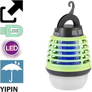 Lámpara mosquitos exterior y camping con luz Yipin
