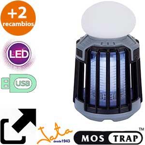Mostrap MIB9N lámpara USB gris + 2 cargas