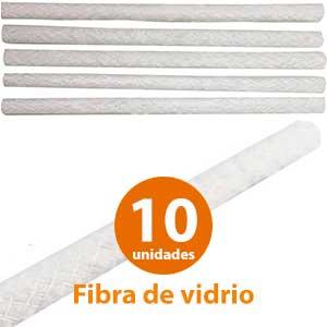 10 mechas para antorchas jardín de fibra de vidrio Healifty