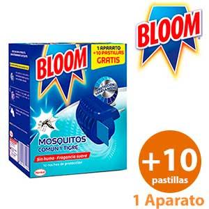 Aparato pastillas mosquitos Bloom 1 unidad + 10 laminitas
