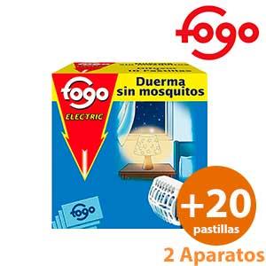Antimosquitos eléctrico pastillas Fogo - 2 aparatos + 20 tabletas