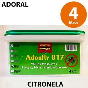 Pintura antimoscas y mosquitos blanca Adoral 4000 ml