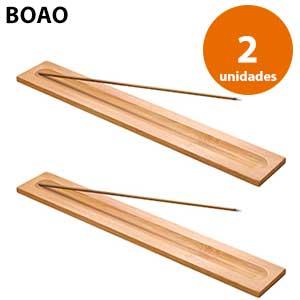 Quemador de incienso madera Boao - 2 unidades