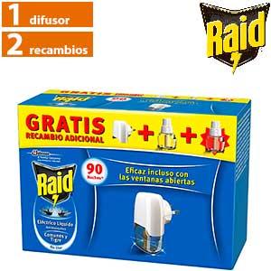Insecticida eléctrico líquido Raid - Aparato + 2 recambios