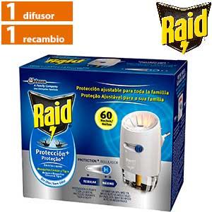 Insecticida en difusor líquido Raid Protection Plus