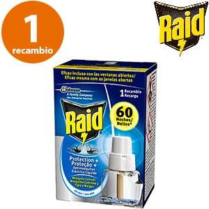 Recambio botella insecticida Raid Protection Plus