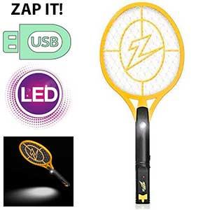 Raqueta eléctrica usb Zap It!
