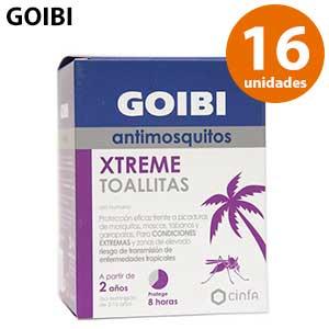 Toallitas Goibi Xtrem antimosquitos con DEET - Paquete de 16 unidades