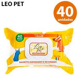 Leo Pet toallitas para mascotas con citronela 40 ud