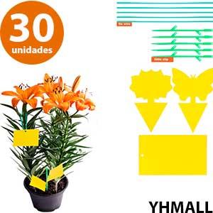 Trampas decorativas para capturar moscas en maceta YHMALL 30 unidades