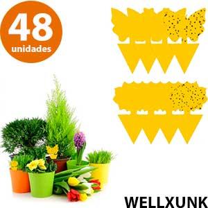 Figuras adhesivas amarillas que atraen y eliminan moscas WellXunk