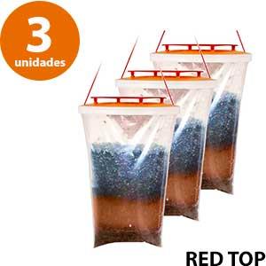 3 bolsas con cebo para moscas RED TOP