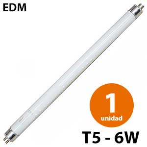 Tubo fluorescente antimosquitos T5 6W - 2 unidades - EDM