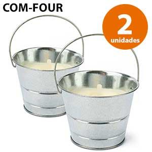 Vela cubo de aluminio Com-Four - Citronella
