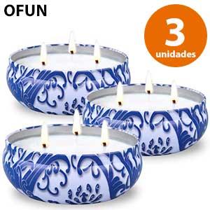 3 velas grandes antimosquitos Ofun