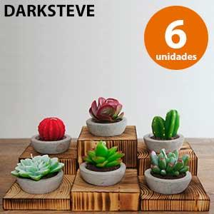 6 velas antimosquitos con forma de cactus Darksteve